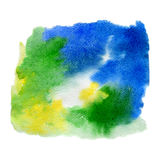 Watercolor hand drawn background Stock Image