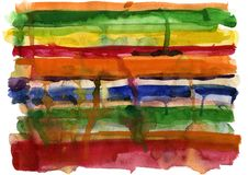 Watercolor hand-drawn background Royalty Free Stock Photography