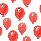 Watercolor hand drawn baloons pattern Stock Photos