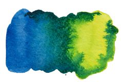 Watercolor hand drawn blue gradient texture isolated on white background. Watercolor hand drawn blue gradient texture isolated on white background vector illustration