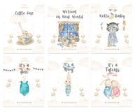 Cute watercolor set Bunnys for birthday greeting cards,posters for baby room, baby shower, invite, kids and baby t-shirts and wear