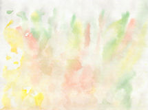 Watercolor hand drawn elements yellow green Royalty Free Stock Photography