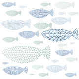 Watercolor hand drawn fishes Royalty Free Stock Photography