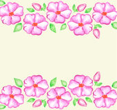 Watercolor hand drawn floral background Royalty Free Stock Photography