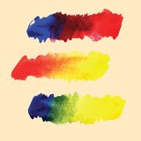 Watercolor hand drawn gradient vector stripes Royalty Free Stock Photos