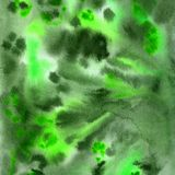 Watercolor hand-drawn green background stock illustration