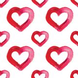Watercolor hand drawn heart. Royalty Free Stock Photography