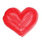 Watercolor hand drawn heart. Royalty Free Stock Image