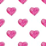 Watercolor hand drawn heart. Royalty Free Stock Photos
