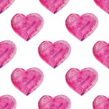 Watercolor hand drawn heart. Stock Image