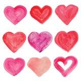 Watercolor hand drawn heart. Stock Photo