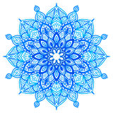 Watercolor hand drawn mandala. Royalty Free Stock Photography