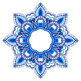 Watercolor hand drawn mandala. Royalty Free Stock Photography