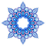 Watercolor hand drawn mandala. Royalty Free Stock Images