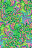 Watercolor hand drawn paisley. seamless pattern Stock Photos