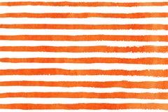 Watercolor hand drawn stripe pattern. Royalty Free Stock Photo
