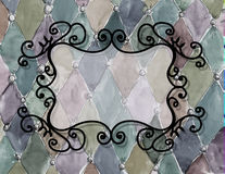 Watercolor hand drawn   vintage pattern with frame Royalty Free Stock Photo