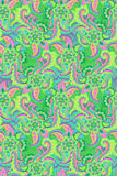 Watercolor hand drawnpaisley. seamless pattern. Bohemian paisley pattermn. hippiebohemian seamless rainbow design with beautiful pailseys, flowers, lace, in Royalty Free Stock Image