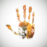 Watercolor-hand. Watercolor handmade background. Vector mark. Colorful hand. Vector fingers. Hand draw palm Royalty Free Illustration