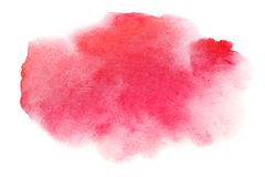 Watercolor hand painted abstract red background. Artistic brush stroke Stock Illustration