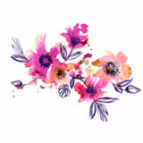 Watercolor hand painted abstract spring Stock Photography