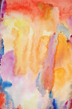 Watercolor hand painted art background Stock Images