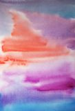 Watercolor hand painted art background for design Stock Image