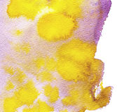 Watercolor hand painted background. Abstract texture in pink and yellow color Stock Images