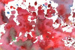Watercolor background illustration blots and drops on a white background vector illustration