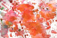 Watercolor background illustration blots and drops on a white background royalty free illustration