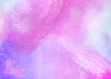 Watercolor hand painted background. Pink, blue, purple texture high resolution Royalty Free Stock Photography