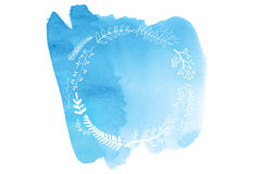Watercolor hand painted banner Stock Photo