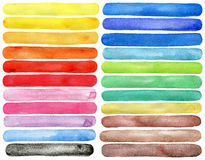 Watercolor hand painted brush strokes Royalty Free Stock Photos