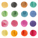 Watercolor hand painted circles Stock Photo