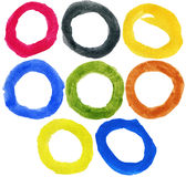 Watercolor hand painted circles Stock Photography