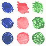 Watercolor hand painted circles set Stock Image