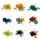 Watercolor hand painted circles set vector spot Stock Photo