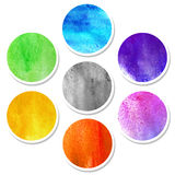 Watercolor hand painted circles Royalty Free Stock Image