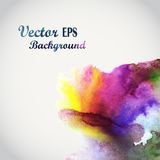 Watercolor hand painted corners design. Watercolor composition f Royalty Free Stock Photo