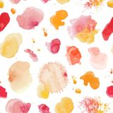 Watercolor hand painted corners design. Watercolor composition f Stock Photos