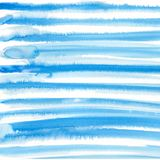 Watercolor hand painted decorative textured lines in sky blue color. Delicate modern style abstract background. stock illustration
