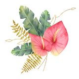 Tropical floral bouquet
