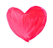 Watercolor hand painted heart. Stock Photography