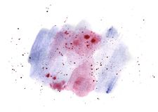 Watercolor blue and pink gradient, hand-painted illustration royalty free illustration