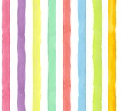 Watercolor hand-painted rainbow stripes seamless pattern. Colorful background & bright wrapping paper vector illustration