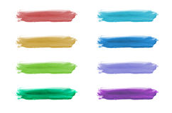 Watercolor hand painted shape design elements set. Isolated on white background Stock Images