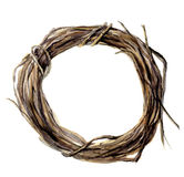 Watercolor hand painted wreath of twig. Wood wreath for design and background Stock Images