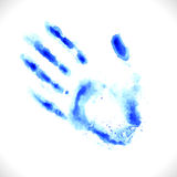 Watercolor hand print Stock Image