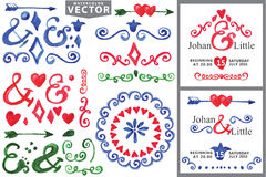 Watercolor Handscetched.Doodle border,decor Stock Image