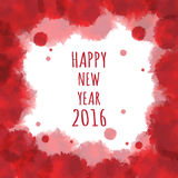 Watercolor 2016 Happy New Year background.vector. Stock Images